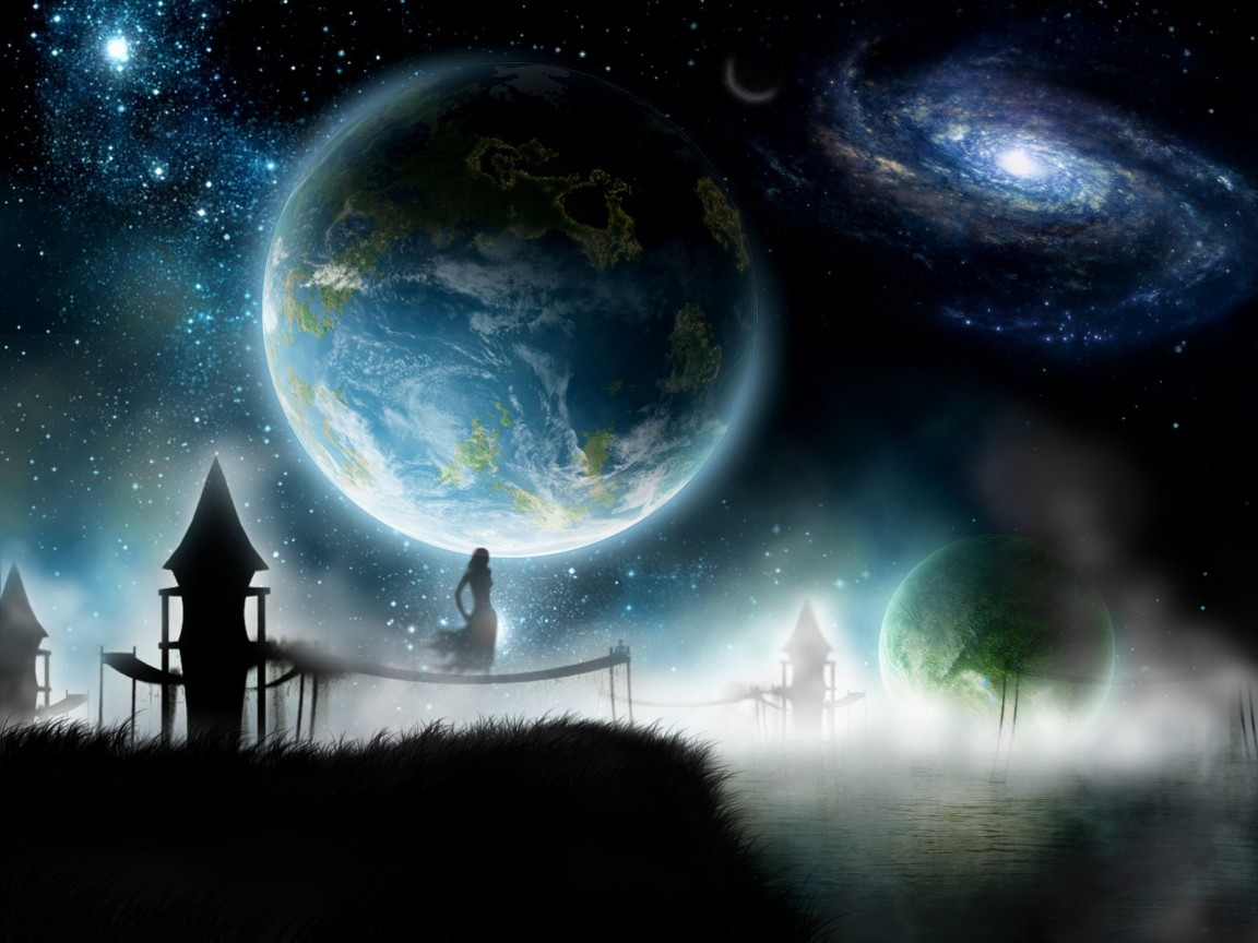 3d Space Background Wallpaper: Univers